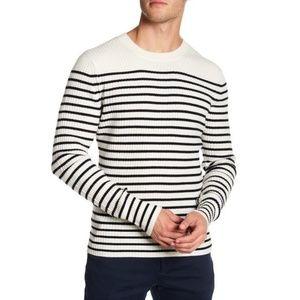 NEW Vince Bretton Cashmere Stripe Sweater Crewneck